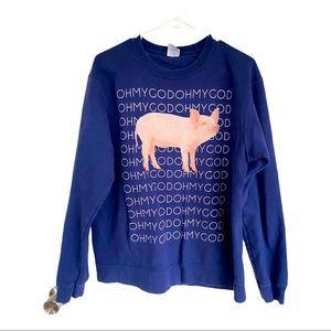 🍋 OH MY GOD Cute Pig Shane Dawson Sweatshirt M/L